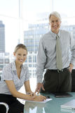 Manager and Assistant Stock Photography
