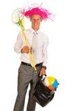 Manager auf Ferien Stockfotografie