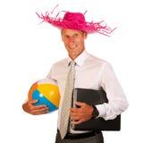 Manager auf Ferien Stockbilder