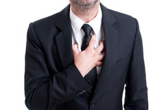 Manager or banker having heart attack Royalty Free Stock Image