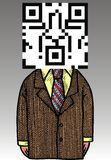 Manager with barcode Royalty Free Stock Photos