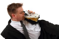 Manager and the beer Royalty Free Stock Images