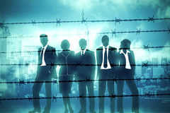 Manager behind Barbed wire. The banking managers behind barbed wire Stock Photos