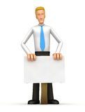 Manager is behind blank board Stock Image