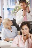 Manager bij de klantendienst stock afbeelding