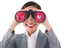 Manager with binoculars Royalty Free Stock Image