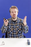 Manager bittet um Support zu seinem Vorschlag Lizenzfreie Stockfotos