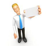 Manager with blank business card Royalty Free Stock Photography