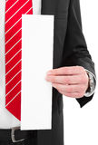 Manager with blank sign Royalty Free Stock Photos