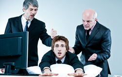 Manager and boss discover lazy employee Royalty Free Stock Photography