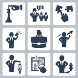 Manager and boss related vector icons Royalty Free Stock Images