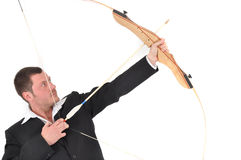 Manager with bow Stock Image