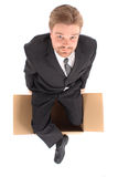 Manager in the box Royalty Free Stock Photography