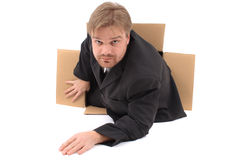 Manager in the box Stock Photo
