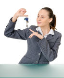 Manager with a bunch of keys Royalty Free Stock Image