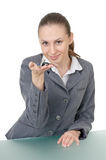 Manager with a bunch of keys Royalty Free Stock Images