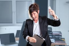 Manager burnout Stock Photography