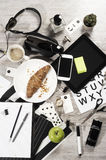 Manager business tabletop with office objects Stock Image