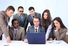 Manager and business team in office Royalty Free Stock Images