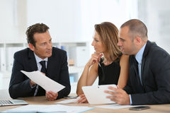 Manager with business team at office Stock Photography