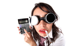 Manager with calculator Royalty Free Stock Image