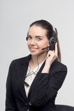 Manager in Call-Center Stockbild