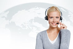 Manager of call center Stock Photos