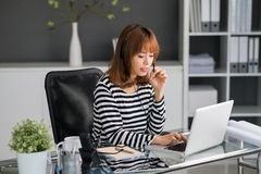 Manager of call-center Stock Images