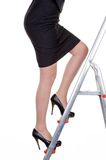 Manager on career ladder Stock Photo