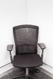 Manager chair in the corner, Black color for office or meeting r Stock Images