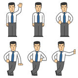 Manager character set 01. Set of office worker in different poses Stock Image