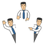 Manager character set 06 Royalty Free Stock Images