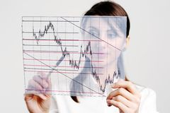 Manager with chart Stock Photo