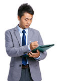 Manager check on list Royalty Free Stock Image