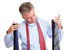 Manager with a choice of ties Royalty Free Stock Images