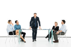 Manager With Colleague In Business Meeting Stock Photo