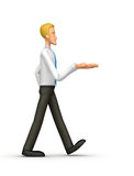 Manager comes with outstretched arm Stock Photo
