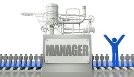 Manager concept with group of people Royalty Free Stock Image