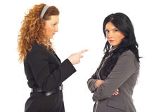Manager conflict employee woman Stock Images