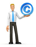 Manager with copyright Royalty Free Stock Images