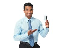 Manager with credit card Royalty Free Stock Photos