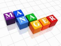 Manager in der Farbe Stockbild