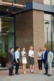 Manager, die auf Geschäftstreffen warten Lizenzfreie Stockbilder