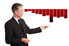 Manager die financieel verlies verklaart royalty-vrije stock afbeelding