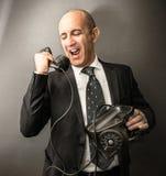 Manager die op de telefoon spreken royalty-vrije stock fotografie