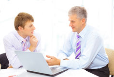Manager discussing work Royalty Free Stock Photography