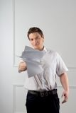 Manager with documents Royalty Free Stock Photos