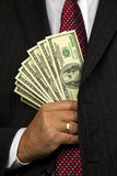 Manager of dollar bills Stock Image