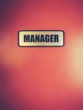 Manager Door Sign royalty-vrije stock fotografie