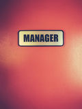 Manager Door Sign Royalty Free Stock Photography